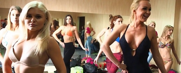 filles de Lituanie faisant du fitness