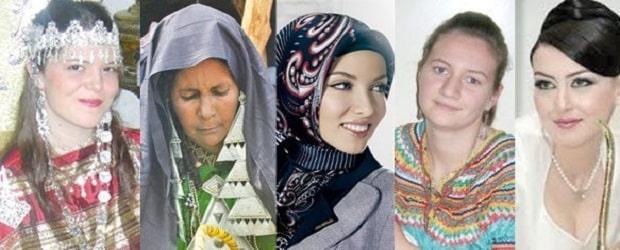 différents types de filles d'Algérie