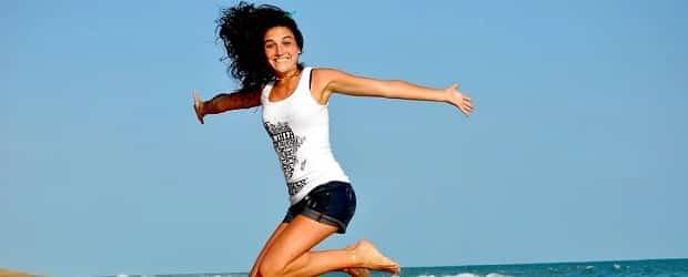 femme polonaise sur la plage